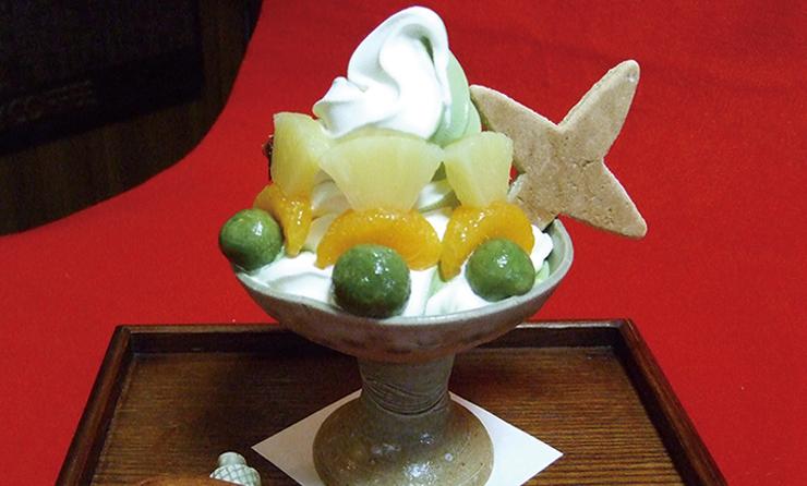 Japanese tea, green tea soft cream MURAI BANKOEN
